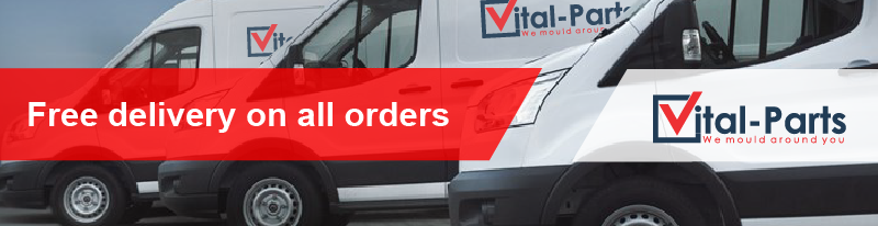 Vital Parts free delivery on all orders banner