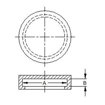 flange cover caps line drawing