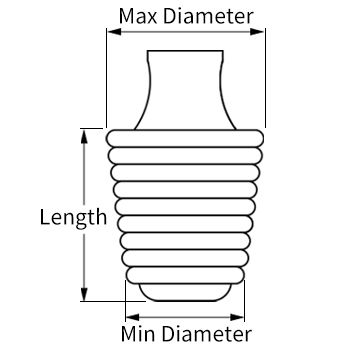 ribbed silicone plug line drawing